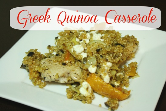Greek Quinoa Casserole  - meals & moves