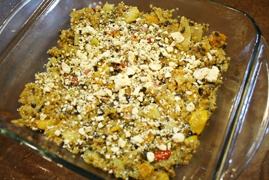 Layer One Greek Quinoa Casserole - meals & moves