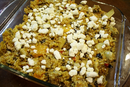 Layer Two Greek Quonia Casserole - meals & moves